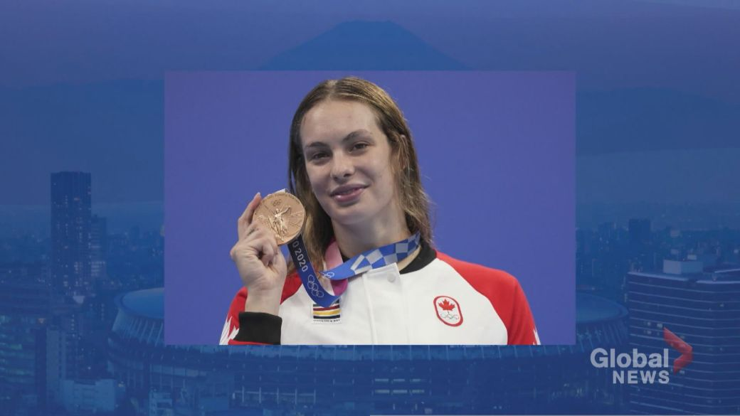Click to play video: 'Canadian swimmer Penny Oleksiak on the road to making history'