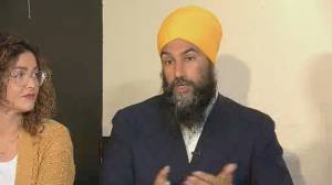 Federal Election 2019: Singh says people impacted by comments by Scheer, Trudeau