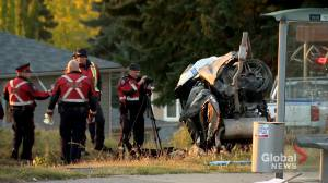 Alcohol and speed believed to be factors in fiery crash on Centre Street (01:46)