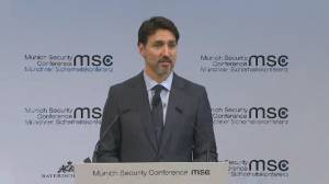 Trudeau stresses countries must work together to improve global economic security