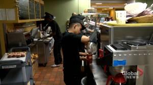 Activists say minimum wage still too low in New Brunswick and Nova Scotia (01:45)