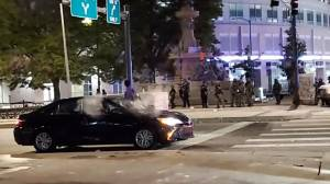 George Floyd protests: Video shows Denver police firing pepper balls at car allegedly containing pregnant woman