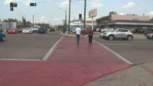 124 Street brick crosswalk pilot project ending