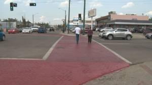 124 Street brick crosswalk pilot project ending