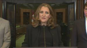 Freeland says restart of economy needs to be green, equitable