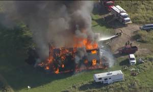 Fire consumes home on Enoch Cree First Nation west of Edmonton (02:18)