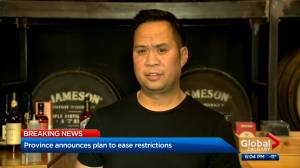 Alberta Hospitality Association responds to COVID-19 restriction announcement (01:44)