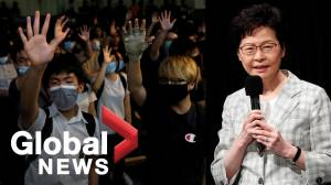 Pro-democracy protesters rally as Hong Kong Leader Carrie Lam holds first 'open dialogue'