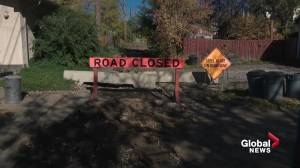 South Edmonton residents frustrated by lengthy alley closure