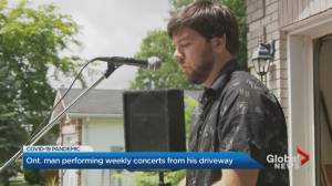 Coronavirus: Ontario man's weekly driveway performances raises $40K for frontline workers