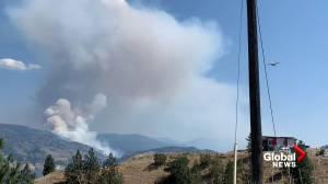 Video of wildfire near Okanagan Falls, B.C. (00:26)