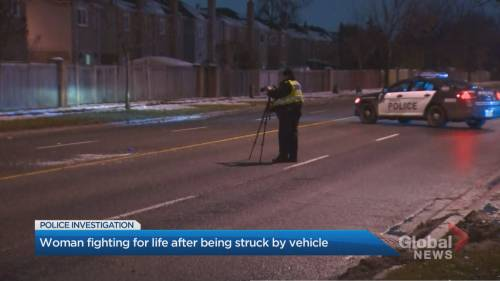 Woman in critical condition after being struck by vehicle in Scarborough