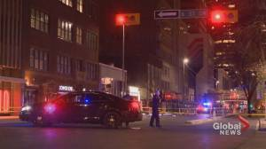 Calgary police homicide unit investigating deadly downtown shooting (01:07)