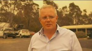 Angry fire victims lash out at Australian prime minister