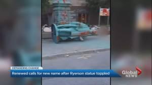 University not replacing toppled Egerton Ryerson statue (02:21)
