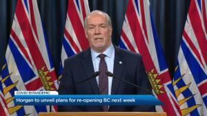 Coronavirus outbreak: Premier Horgan unveils plans for re-opening B.C. next week
