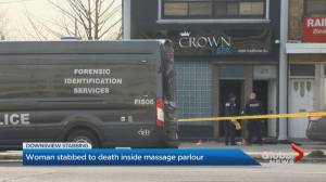 Triple stabbing leaves 1 dead at adult massage parlour in Toronto (02:20)
