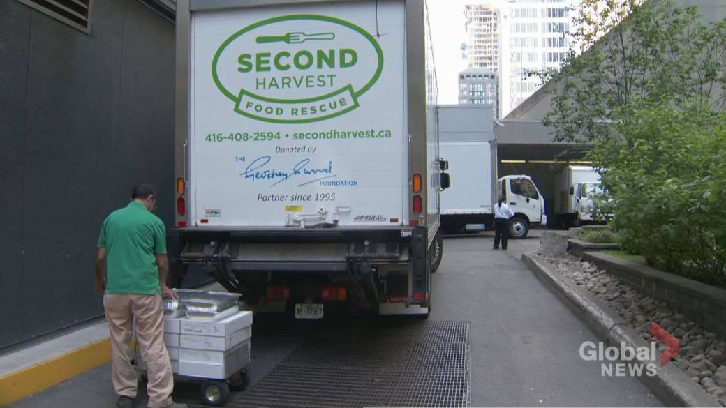 Click to play video 'Canadian food rescue charity continues their essential service during COVID-19'