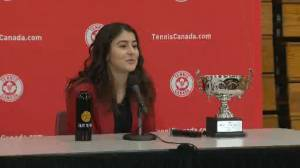 Bianca Andreescu talks about how she stays grounded despite year of victories