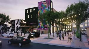 Construction underway to transform Edmonton alley space into vibrant public plaza (01:54)
