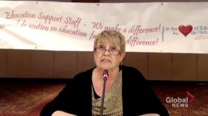 New Brunswick education workers say contract talks deadlocked (01:44)