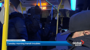 Tuesday morning transit troubles lead to new service changes in Edmonton after COVID-19 reduction