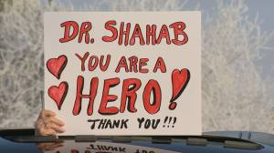 Group parades appreciation for Dr. Shahab through the Queen City (01:32)