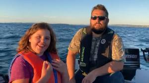 Father, daughter talk about 'mind-blowing' experience seeing humpback whales breach water in Newfoundland
