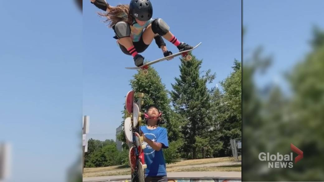 Click to play video 'Meet Toronto's 10-year-old skateboard prodigy'