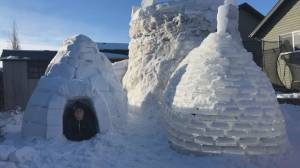Lloydminster boy builds awesome snow fort (01:51)
