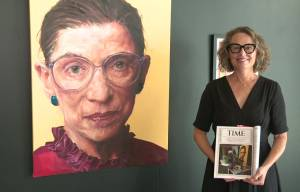Iconic Ruth Bader Ginsburg TIME cover painted by Edmonton artist