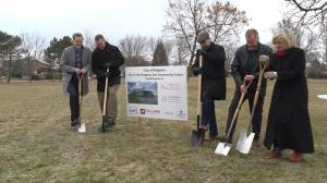 Mayor and dignitaries break ground for $13.5 M Kingston East Community Centre (01:45)