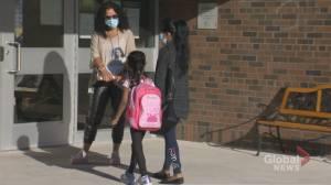 Public and Catholic school students in Toronto return to school (02:38)