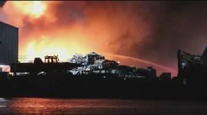 Massive fire at Richmond recycling facility