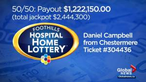 Foothills Hospital Home Lottery: 50/50 draw