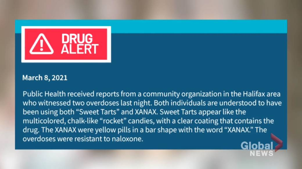 Click to play video 'Street drug warning in Halifax after overdose death'