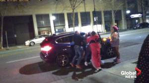 Fight breaks outside 'furries' convention as costumed attendees subdue man in alleged domestic violence arrest