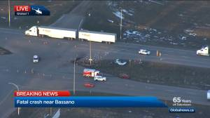 2 people dead after collision near Bassano, Alberta