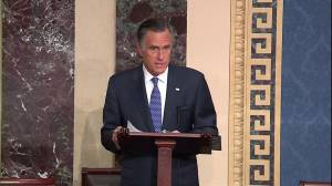 Mitt Romney announces he will vote to convict Donald Trump in Senate impeachment trial