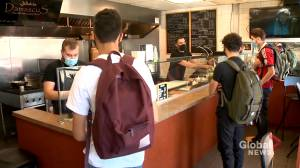 COVID-19: Calgary businesses facing tough challenges with student customers not wearing masks