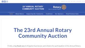 A preview of the Rotary Club of Cataraqui-Kingston Community Auction
