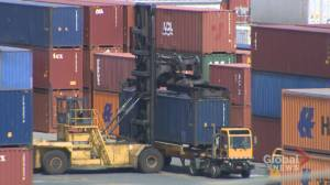 Port of Halifax continue seeing cargo piling up amidst rail blockades