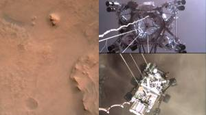 NASA releases 1st video of Perseverance rover landing on Mars (03:29)