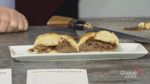 Cooking up a beef dip sandwich with Villa Bistro