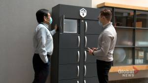A Cool innovation: local entrepreneur launches first made for workplace fridge (02:01)