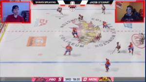 Spearing taking on fellow CHL players in Memorial eCup (02:12)