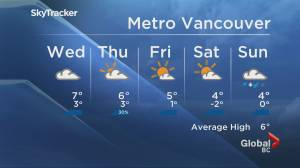 B.C. evening weather forecast: Jan 19 (02:00)