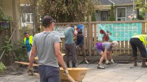 Mulberry Waldorf school removes paved school grounds for green space