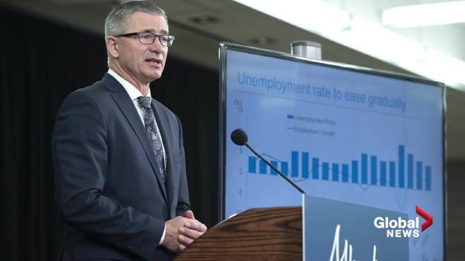 Click to play video: Fiscal update shows economic recovery in Alberta will take years