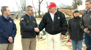 Tennessee has 'tremendous heart': Trump tours Nashville after tornadoes kill 25